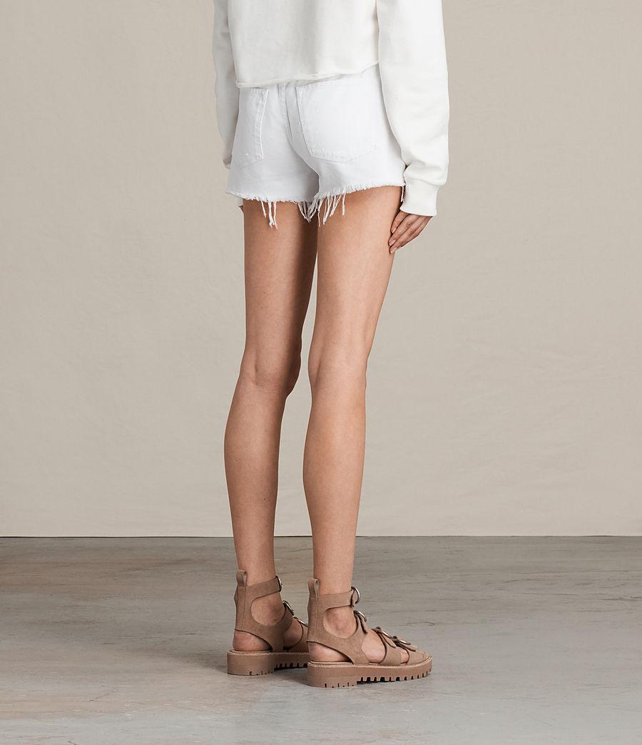 Women's Button Boy Shorts (white) - Image 5