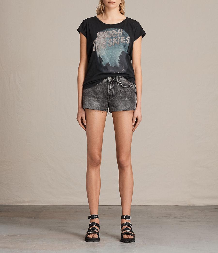 Womens Lea Denim Shorts (vintage_grey) - Image 1