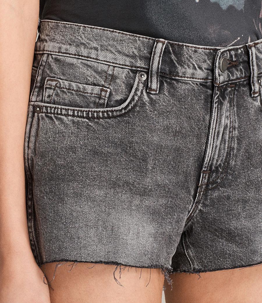 Womens Lea Denim Shorts (vintage_grey) - Image 2