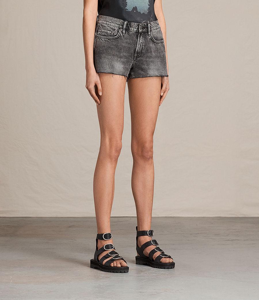 Womens Lea Denim Shorts (vintage_grey) - Image 3