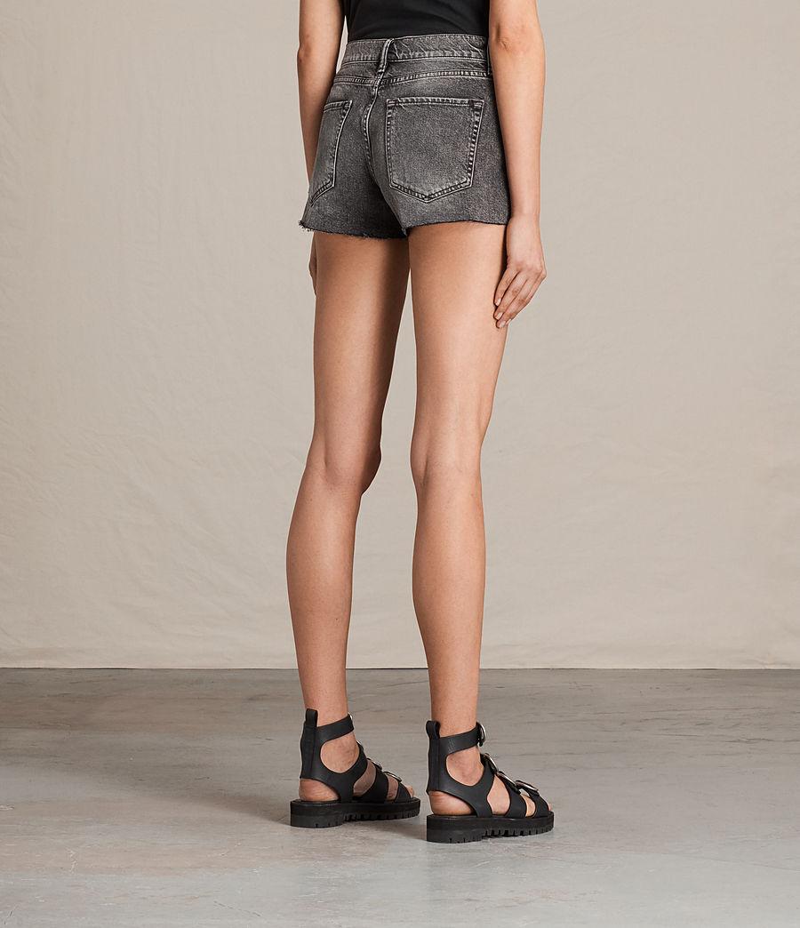 Womens Lea Denim Shorts (vintage_grey) - Image 4