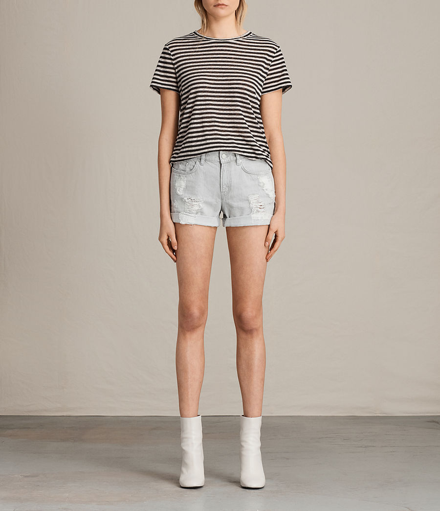 Damen Pam Denim Shorts (pale_grey) - Image 1