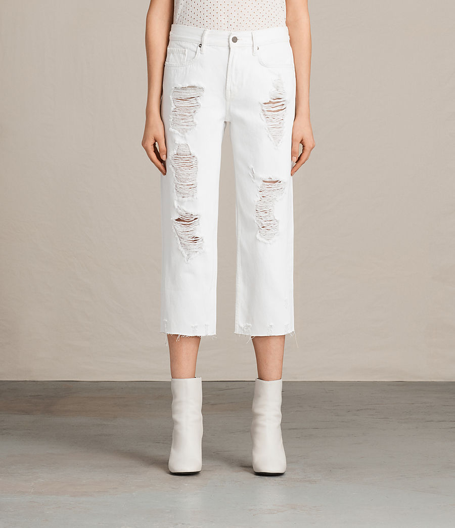 Womens Ivy Destroys Boys Jeans (white) - Image 1