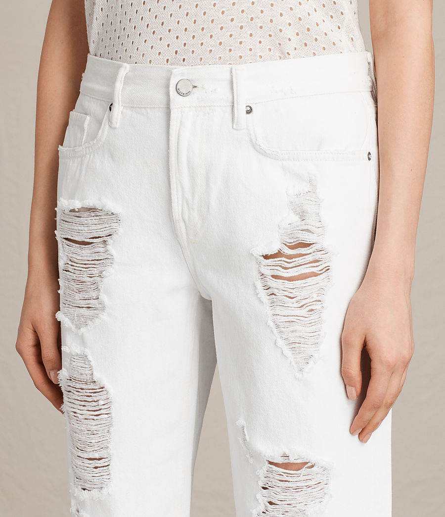 Womens Ivy Destroys Boys Jeans (white) - Image 2
