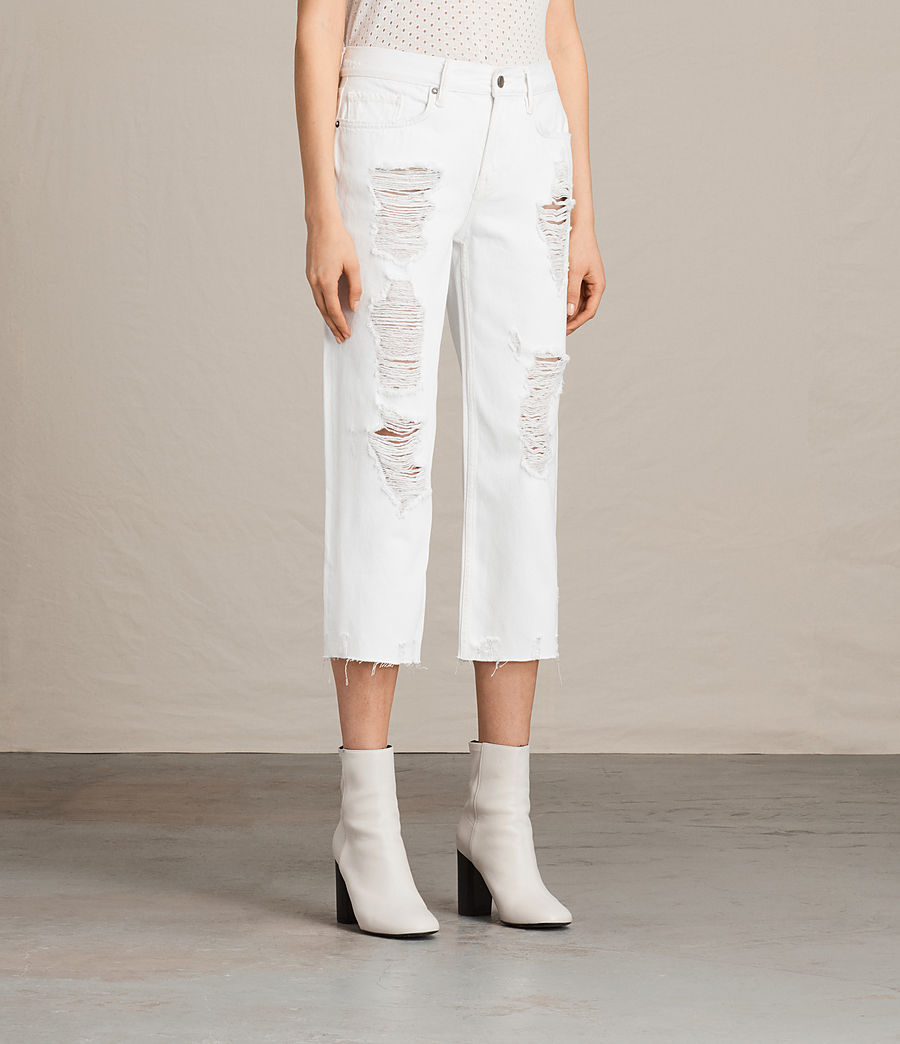 Womens Ivy Destroys Boys Jeans (white) - Image 3