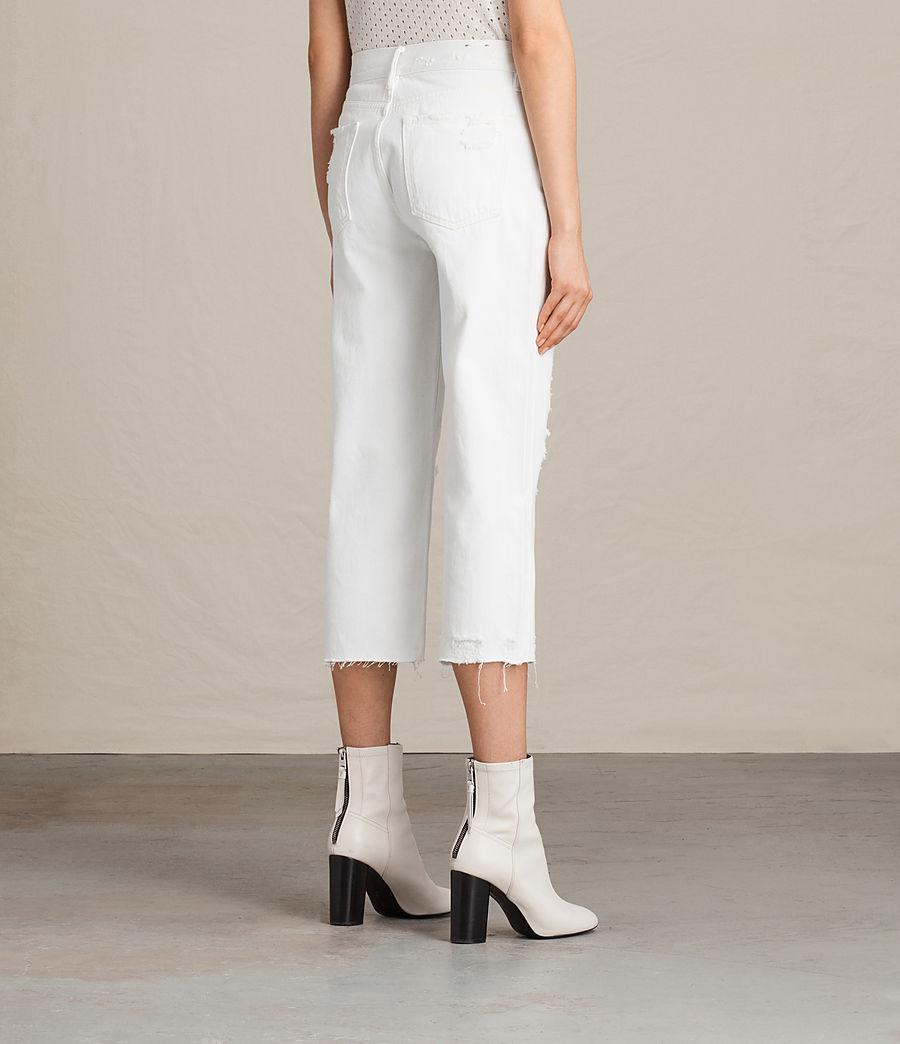 Womens Ivy Destroys Boys Jeans (white) - Image 4