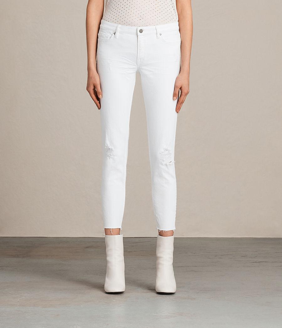 Women's Mast Ankle Destroy Jeans (white) - Image 1