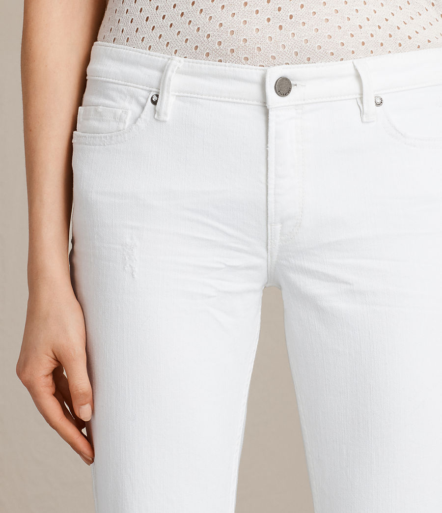 Women's Mast Ankle Destroy Jeans (white) - Image 2