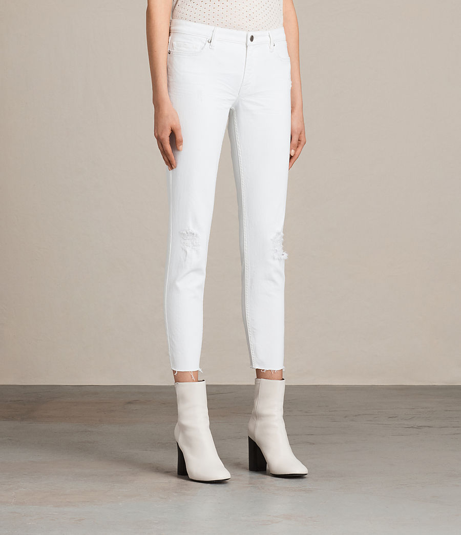 Mujer Vaqueros Mast Ankle Destroy (white) - Image 3