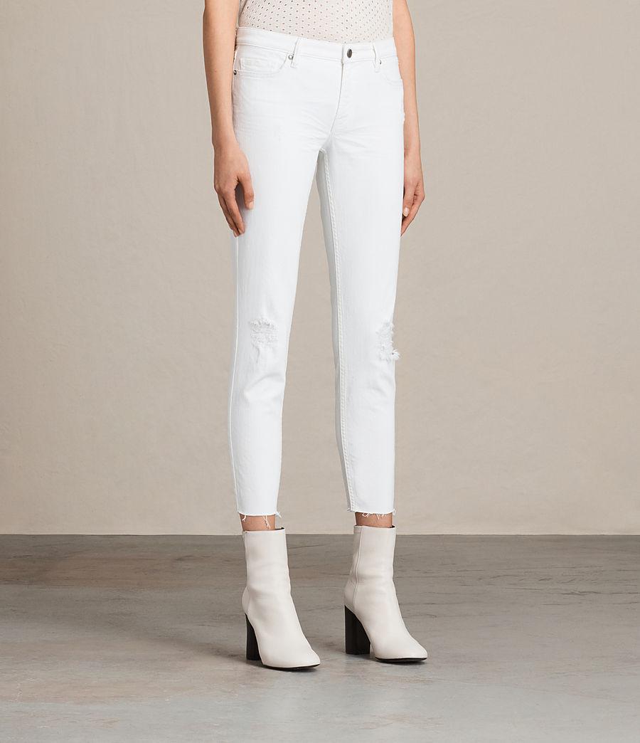 Damen Mast Ankle Destroy Jeans (white) - Image 3