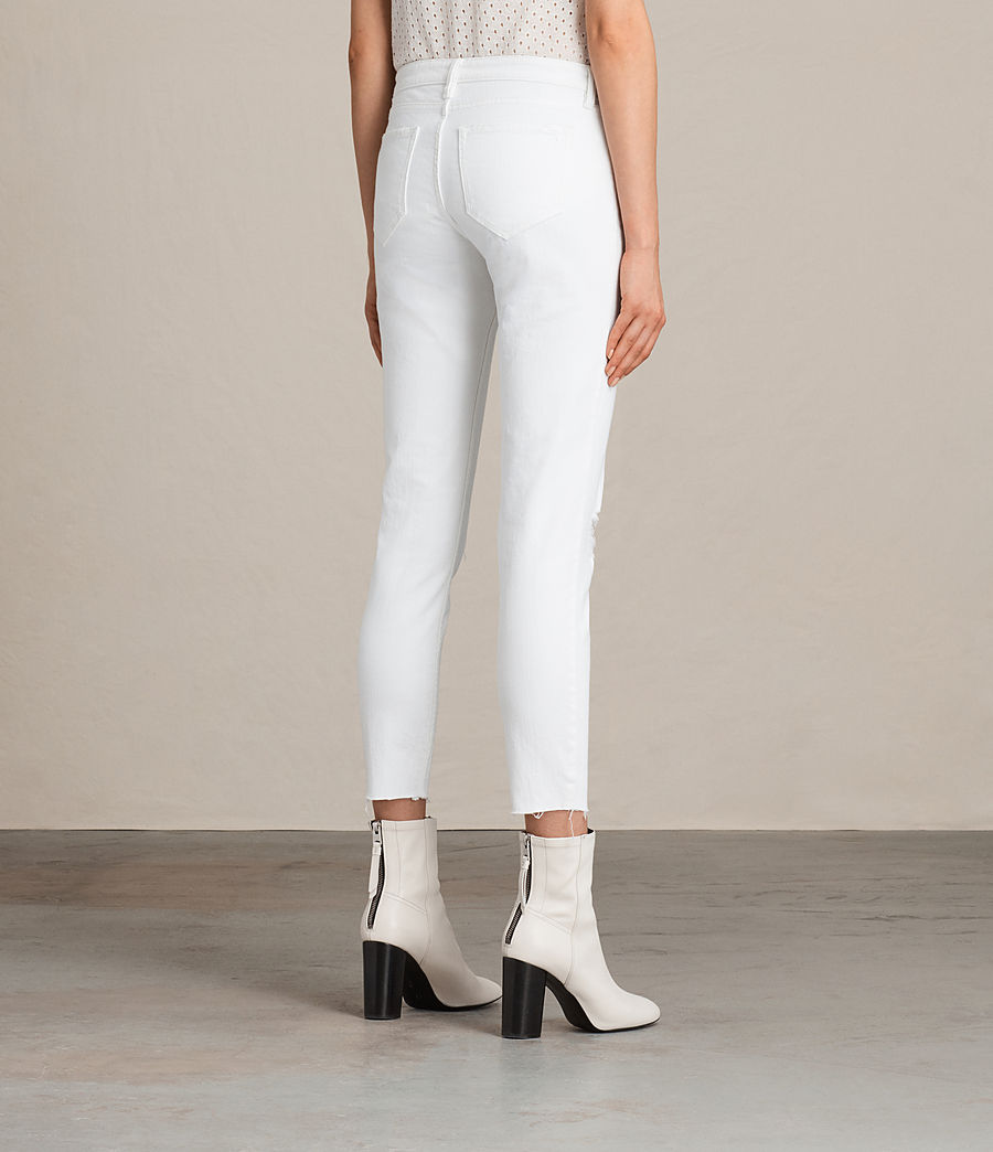 Mujer Vaqueros Mast Ankle Destroy (white) - Image 4