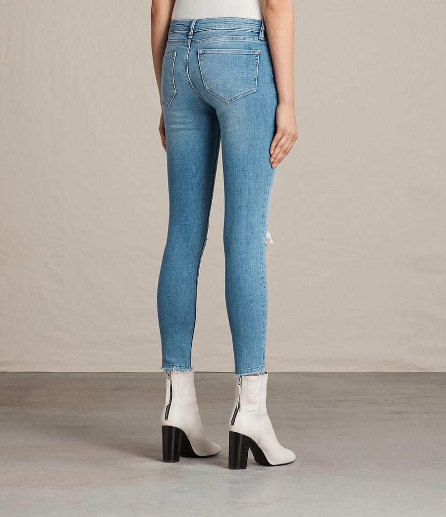 Women's Mast Ankle Destroy Jeans (mid_indigo_blue) - Image 4