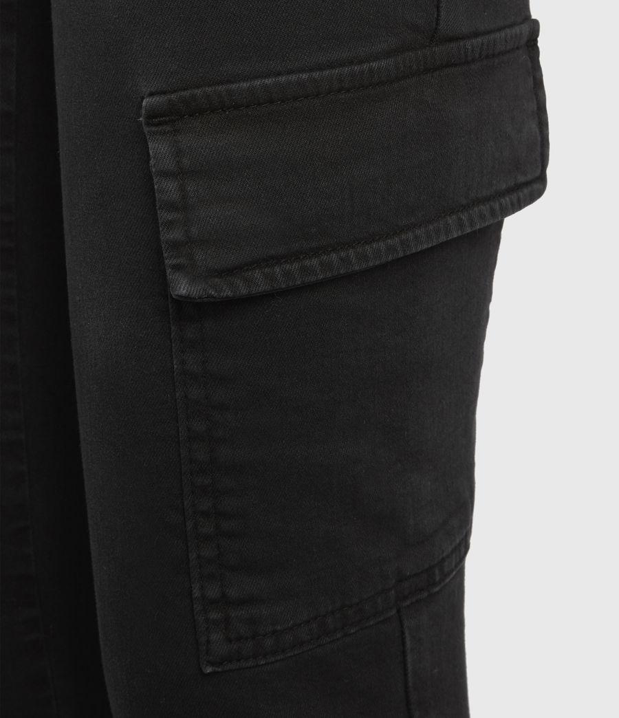 Women's Duran Mid-Rise Skinny Cargo Jeans, Black (black) - Image 5