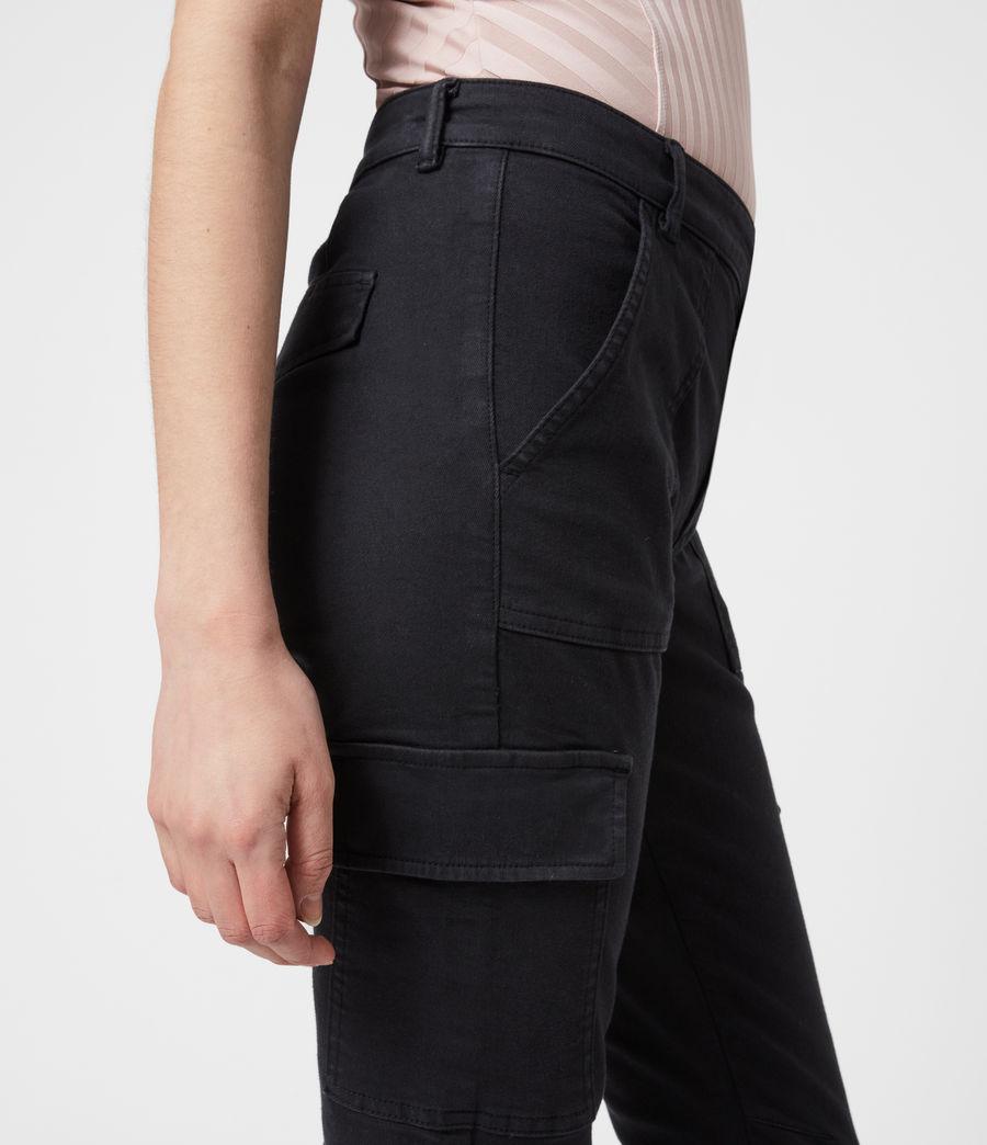 Women's Duran Mid-Rise Skinny Cargo Jeans, Black (black) - Image 6