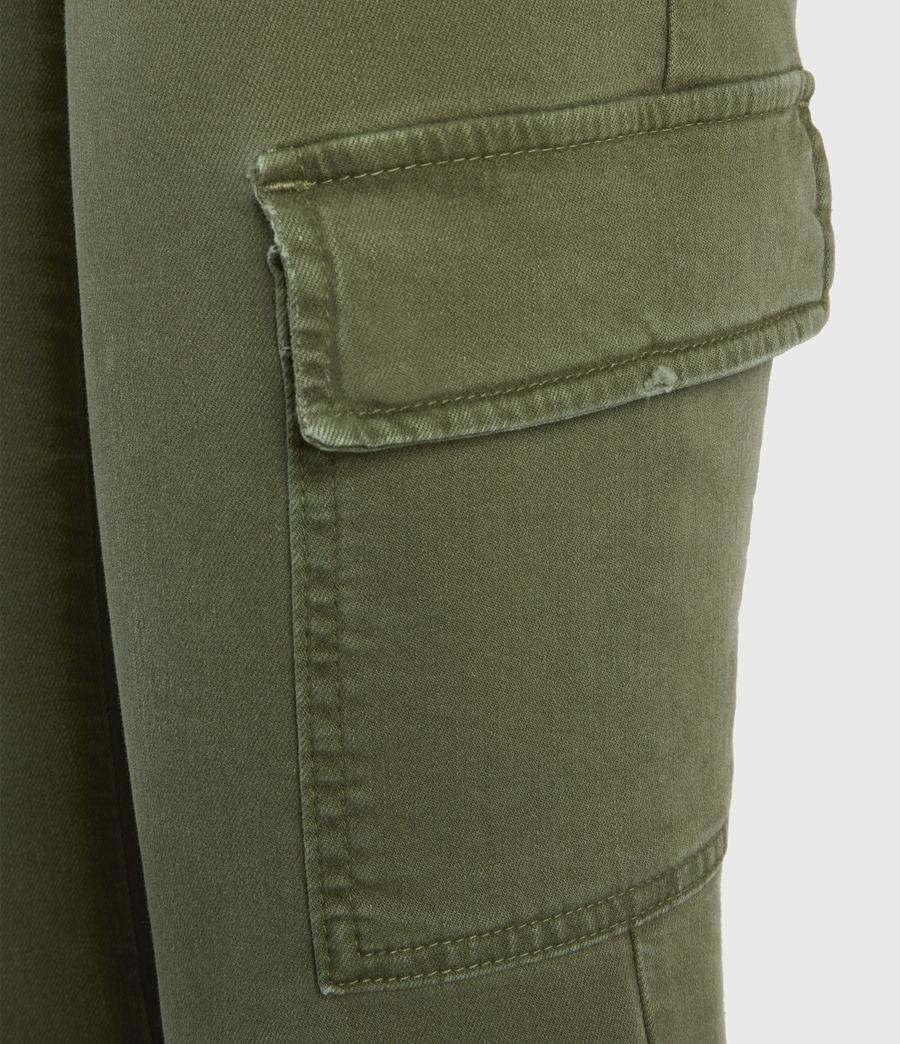Womens Duran Mid-Rise Skinny Cargo Jeans, Khaki Green (khaki_green) - Image 5