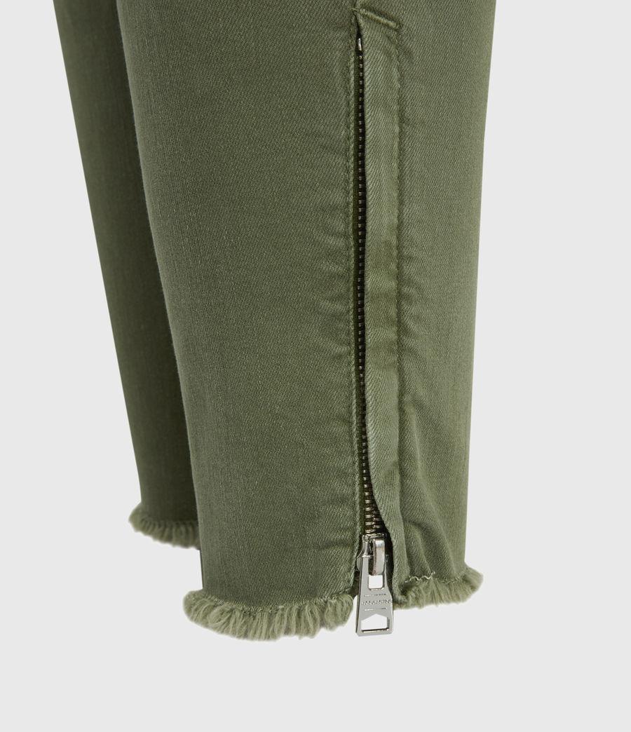Womens Duran Mid-Rise Skinny Cargo Jeans, Khaki Green (khaki_green) - Image 6