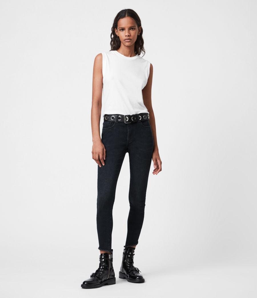Womens Miller Mid-Rise Skinny Jeans, Blue Black (blue_black) - Image 1
