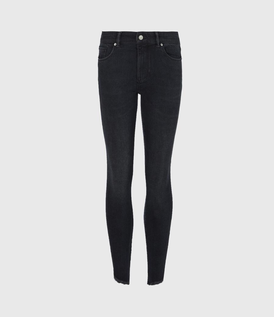 Womens Miller Mid-Rise Skinny Jeans, Blue Black (blue_black) - Image 2