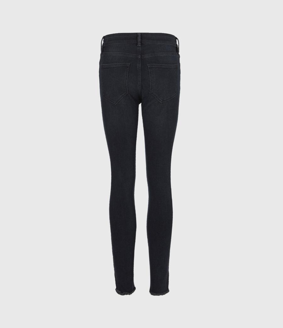 Womens Miller Mid-Rise Skinny Jeans, Blue Black (blue_black) - Image 3