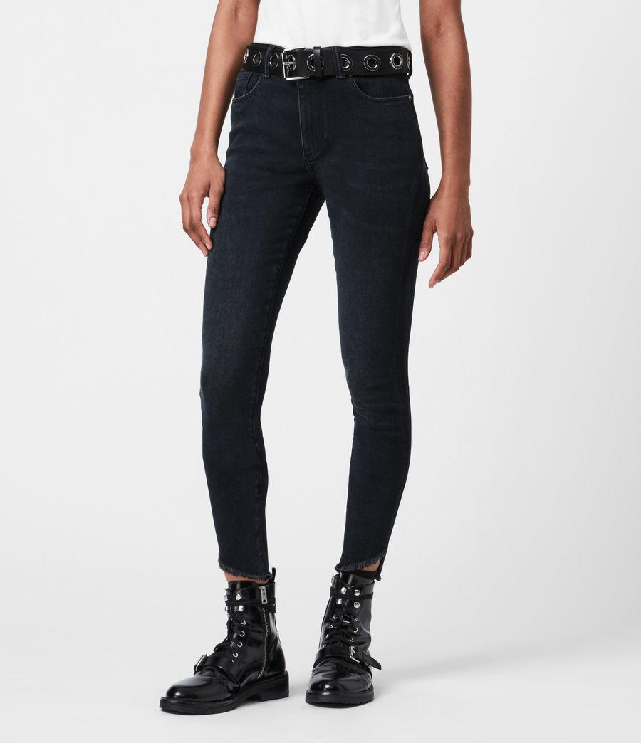 Womens Miller Mid-Rise Skinny Jeans, Blue Black (blue_black) - Image 4