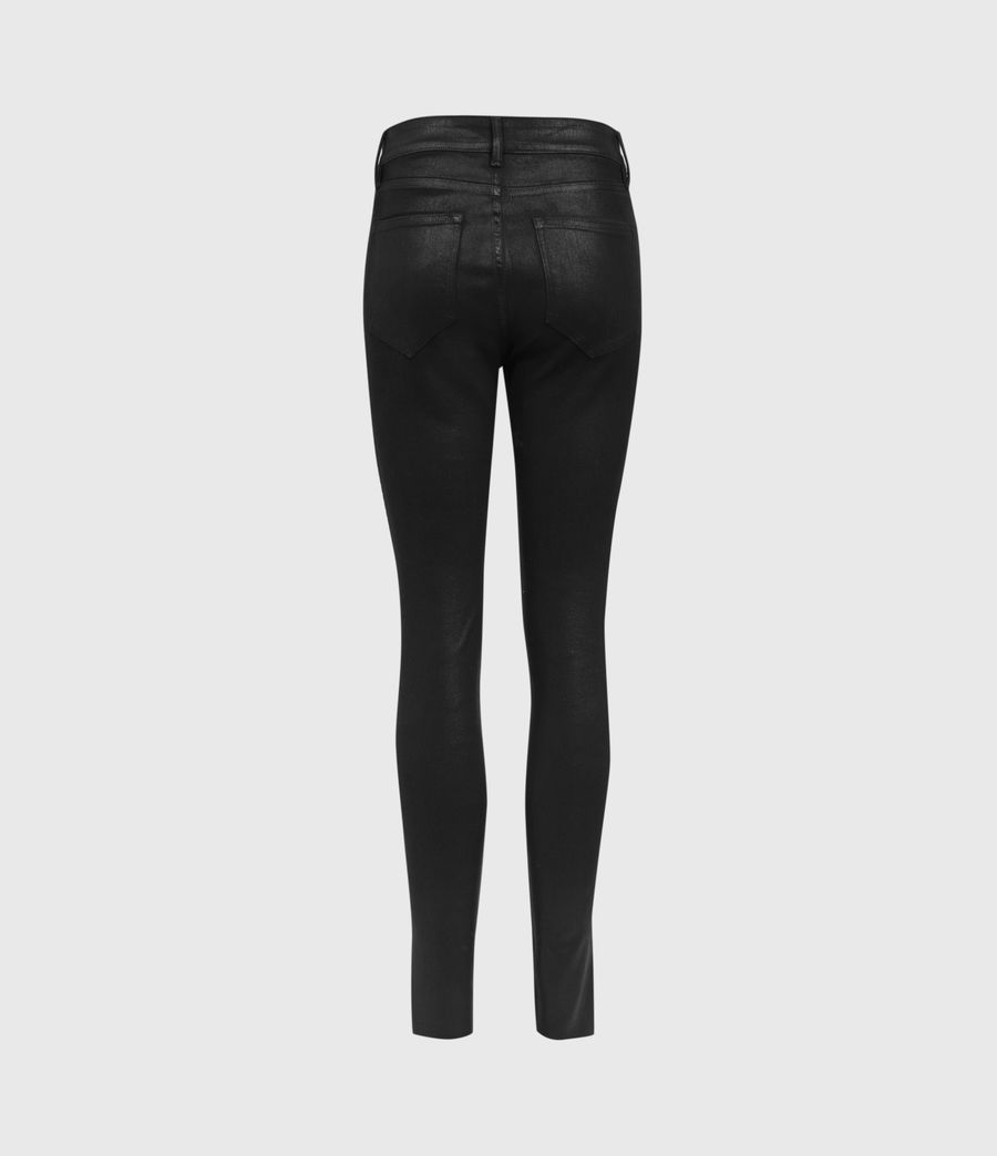 Mujer Miller Mid-Rise Ministud Superstretch Skinny Jeans, Coated Black (coated_black) - Image 5