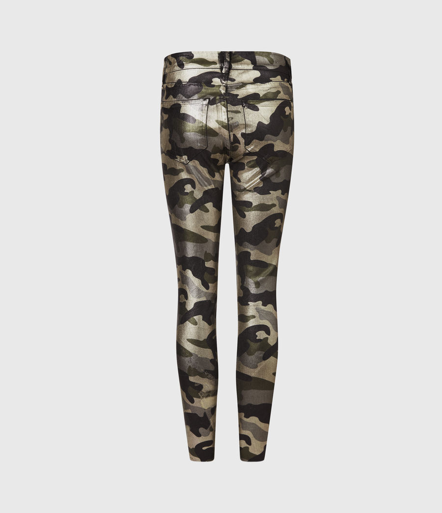 Womens Miller Mid-Rise Camouflage Superstretch Skinny Jeans, Gold (gold) - Image 3