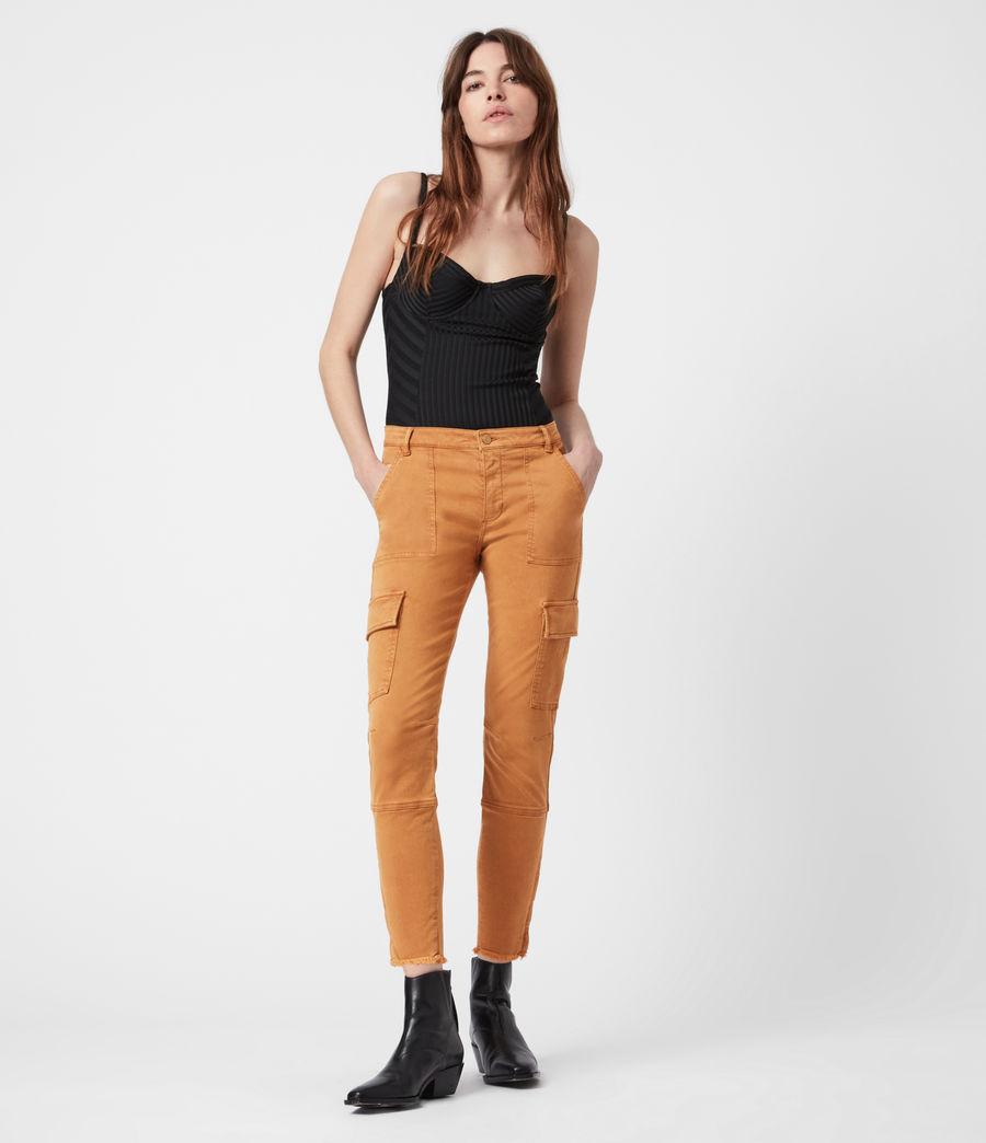 Damen Duran Skinny Cargohose (caramel) - Image 1