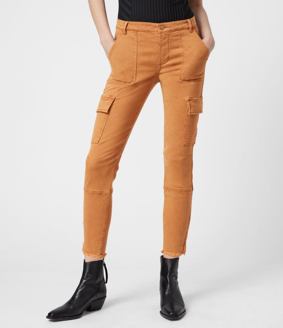 Damen Duran Skinny Cargohose (caramel) - Image 4