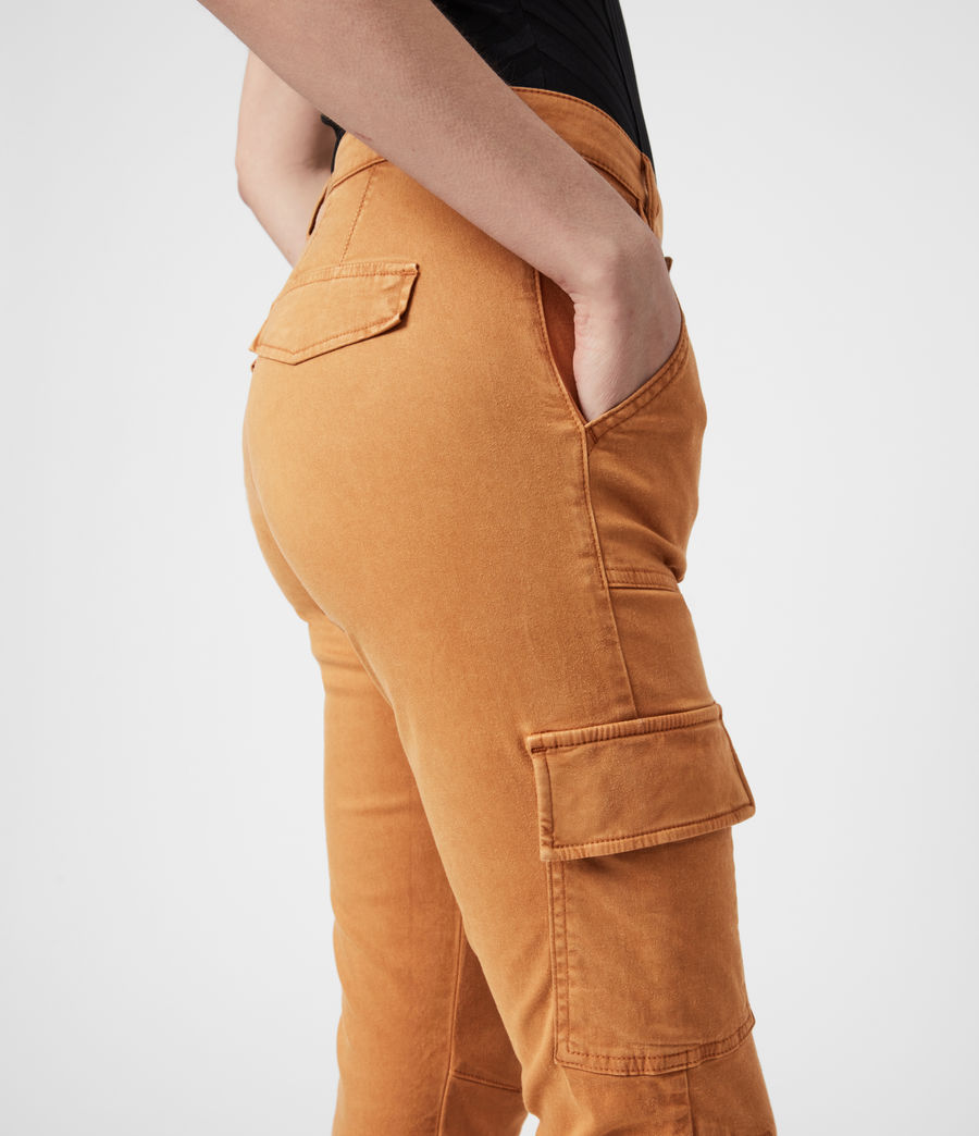 Damen Duran Skinny Cargohose (caramel) - Image 6