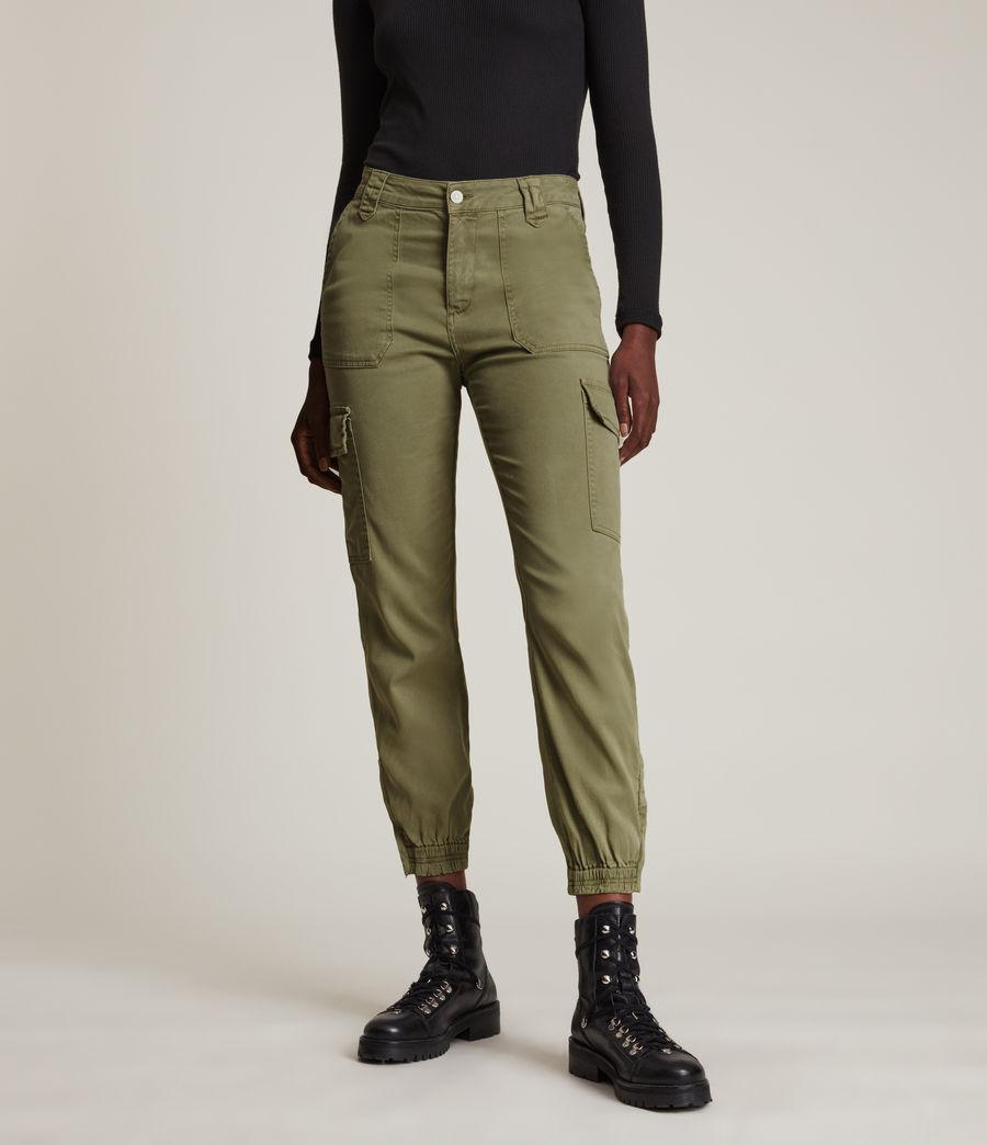 Femmes Jogging Cargo Slim Taille Haute Nola (khaki_green) - Image 2