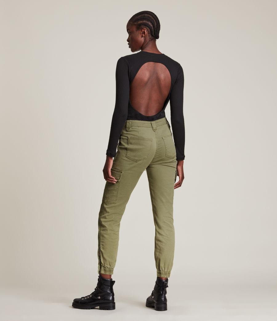 Femmes Jogging Cargo Slim Taille Haute Nola (khaki_green) - Image 4