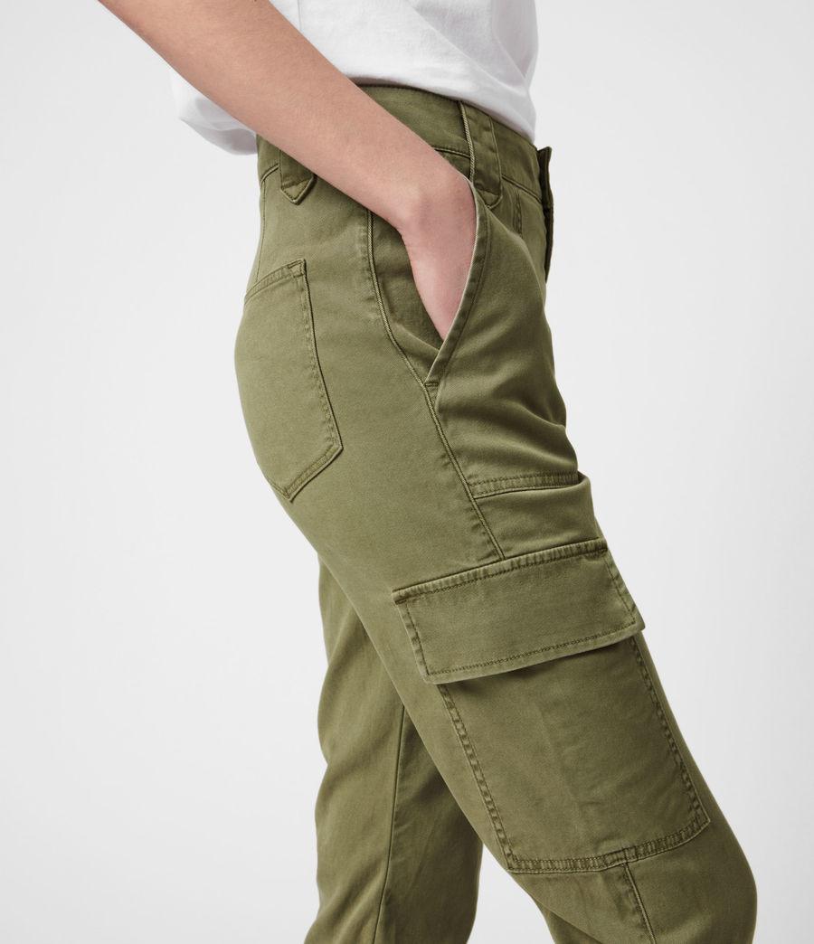 Femmes Jogging Cargo Slim Taille Haute Nola (khaki_green) - Image 6