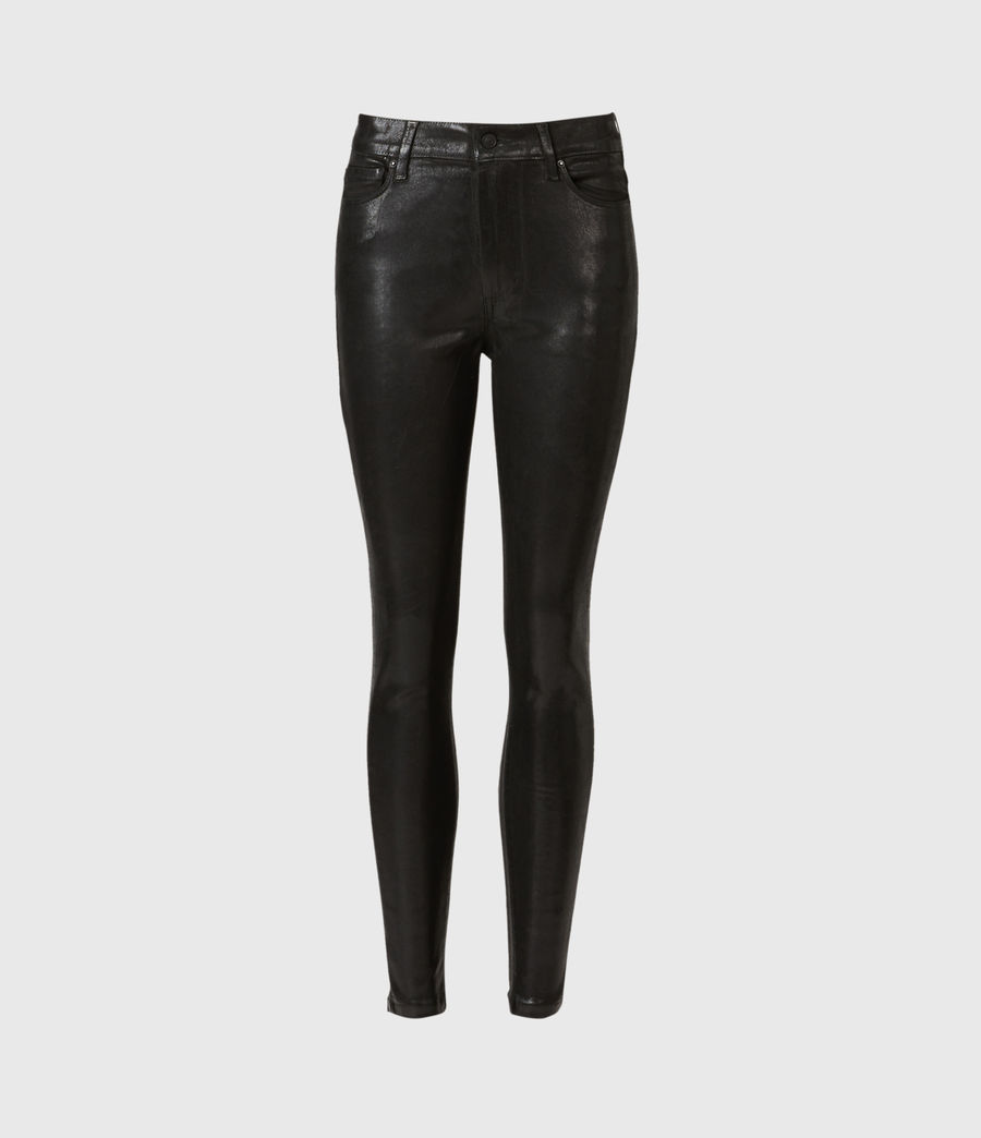 Damen Alex High-Rise Coated Superstretch Skinny Jeans, Black (black) - Image 2