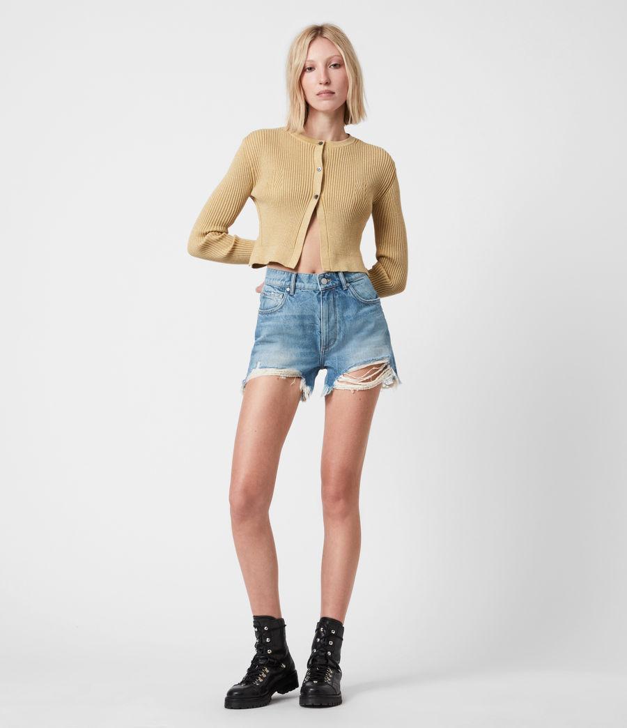 Womens Remi Cut Off Denim Shorts (indigo) - Image 1