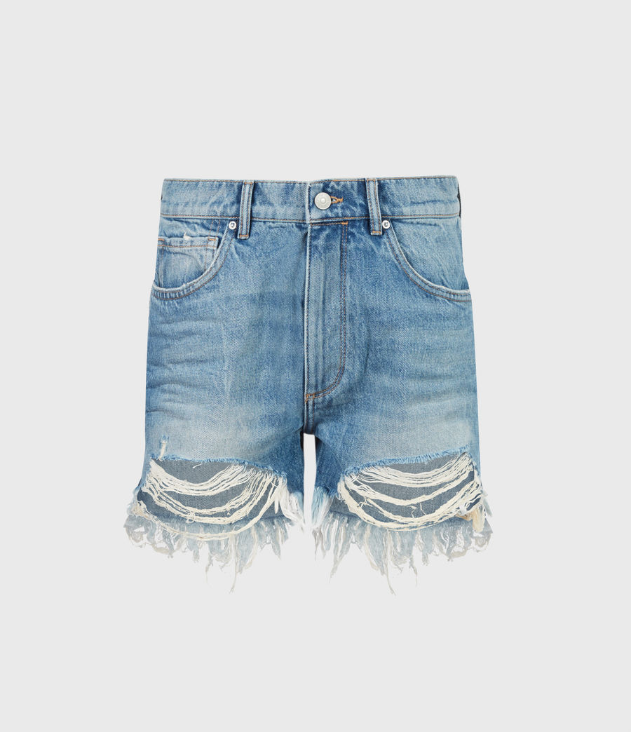 Womens Remi Cut Off Denim Shorts (indigo) - Image 2