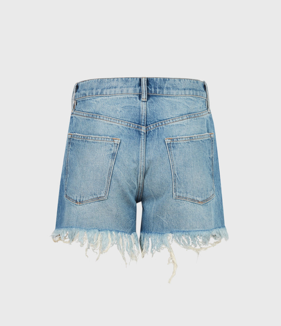 Womens Remi Cut Off Denim Shorts (indigo) - Image 3