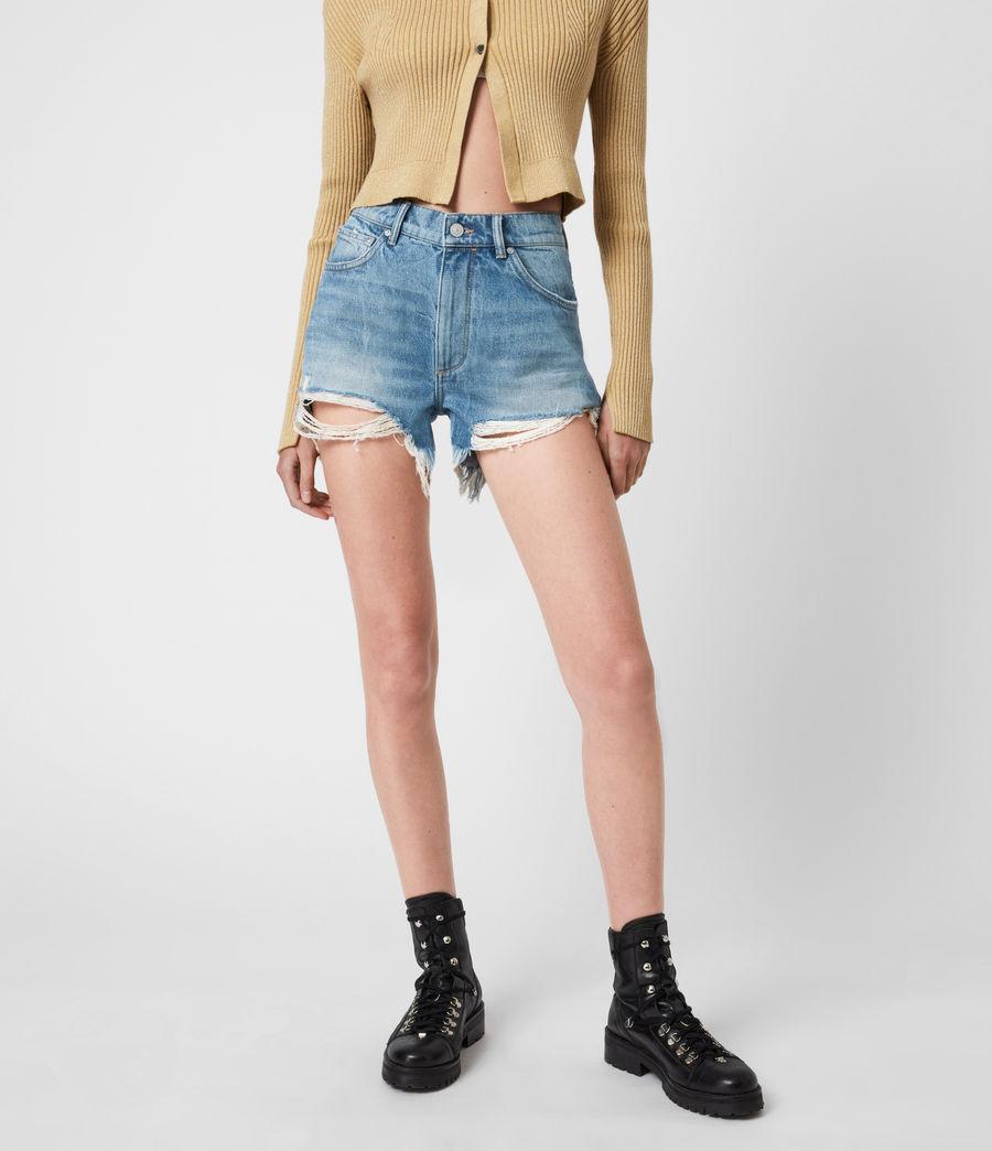 Womens Remi Cut Off Denim Shorts (indigo) - Image 4