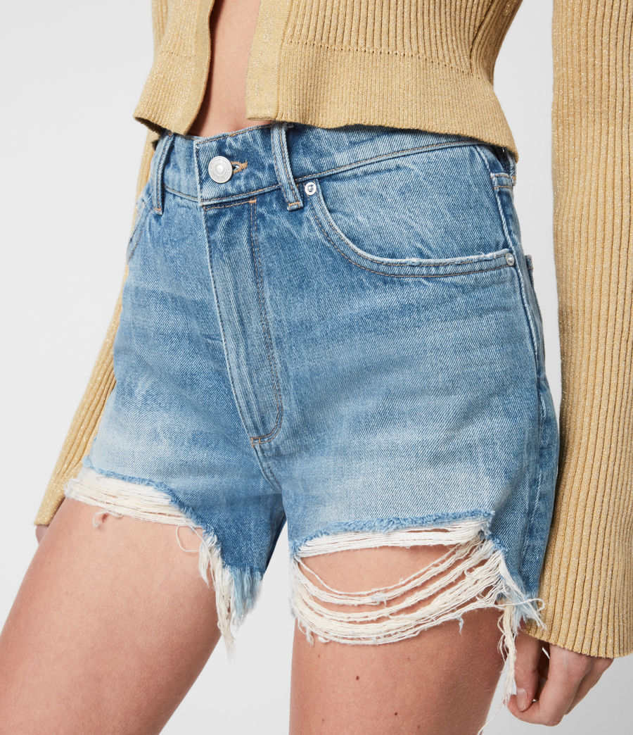 Womens Remi Cut Off Denim Shorts (indigo) - Image 6