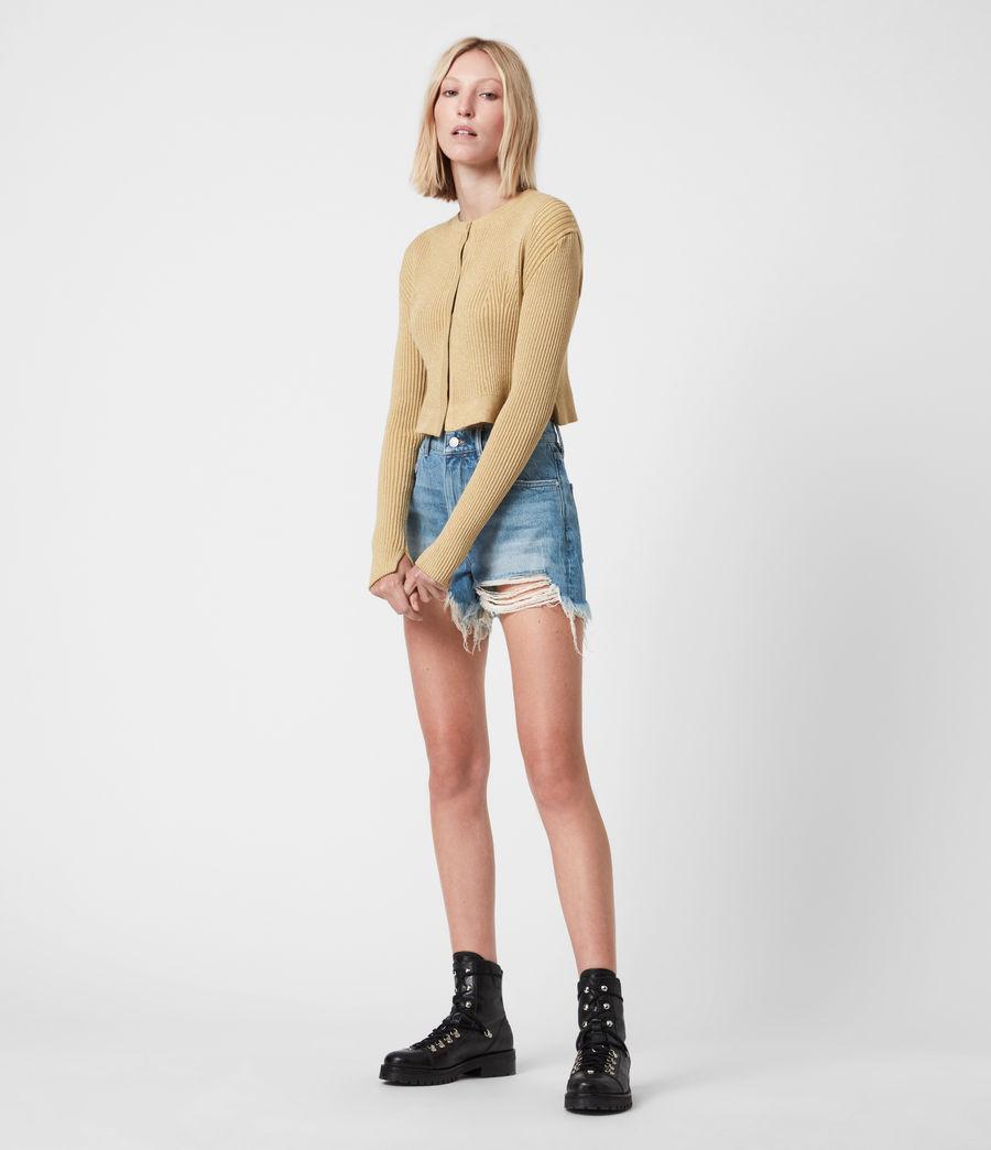 Womens Remi Cut Off Denim Shorts (indigo) - Image 7