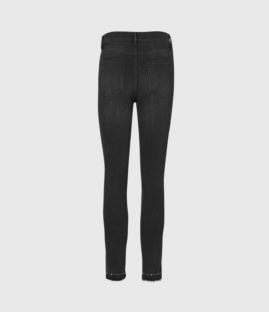 Damen Miller Nieten Jeans (black) - Image 3