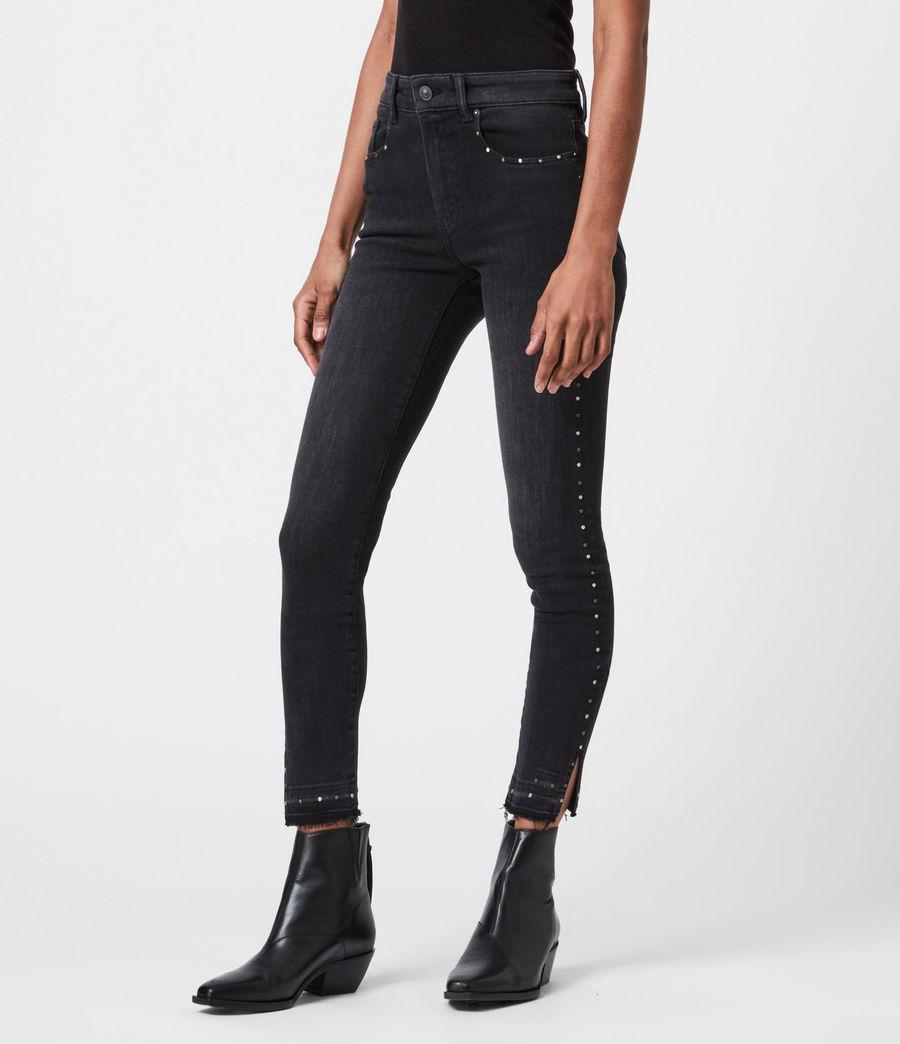 Damen Miller Nieten Jeans (black) - Image 4