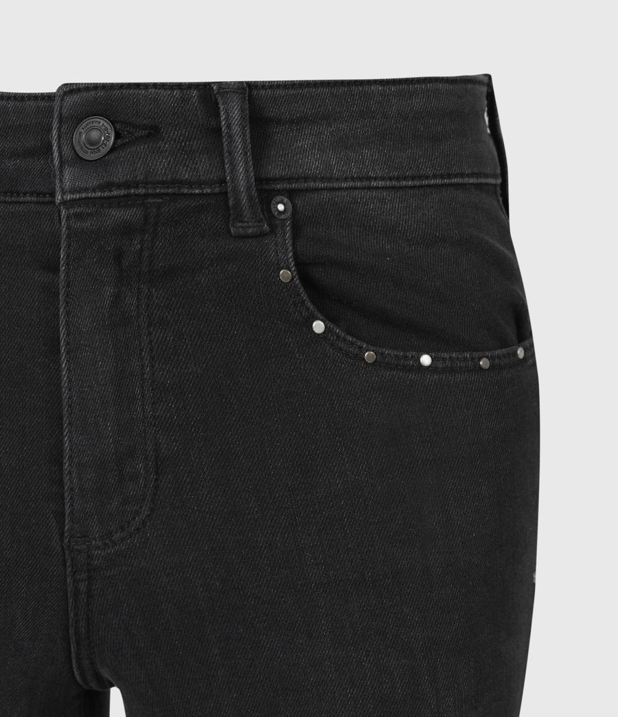 Damen Miller Nieten Jeans (black) - Image 5