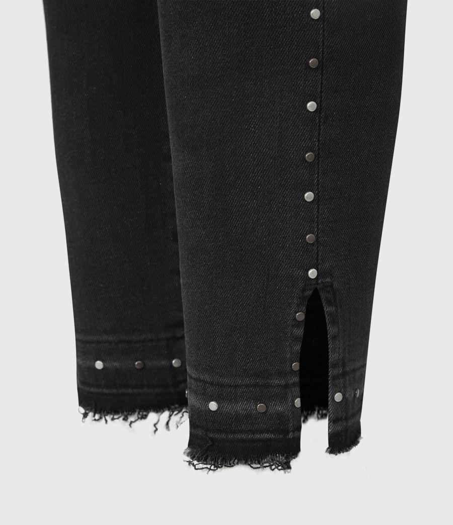 Damen Miller Nieten Jeans (black) - Image 6