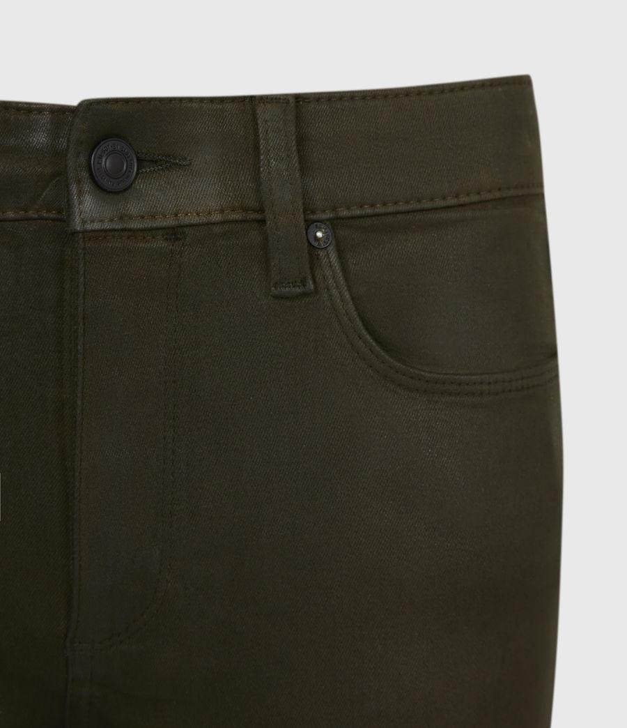 Womens Miller Mid-Rise Coated Skinny Jeans, Khaki Green (khaki_green) - Image 5