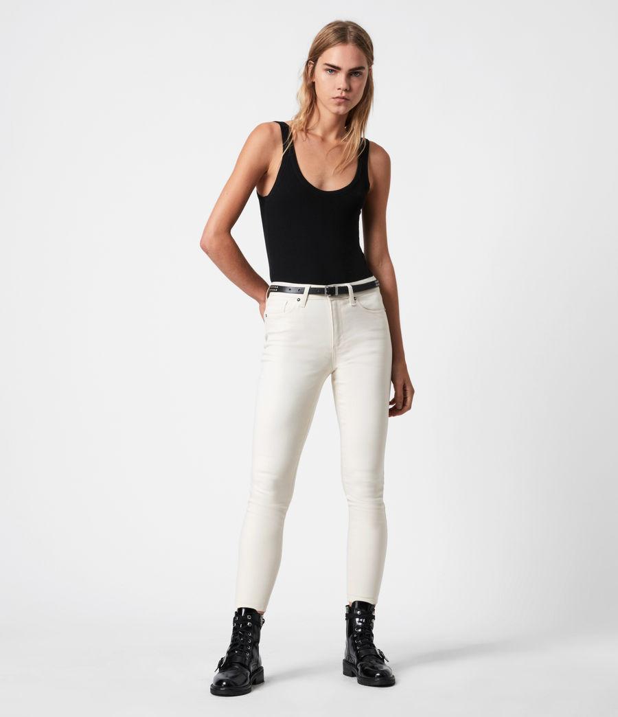 Damen Miller Mittelhoch-Tailliert Skinny Jeans, Weiß (white) - Image 1