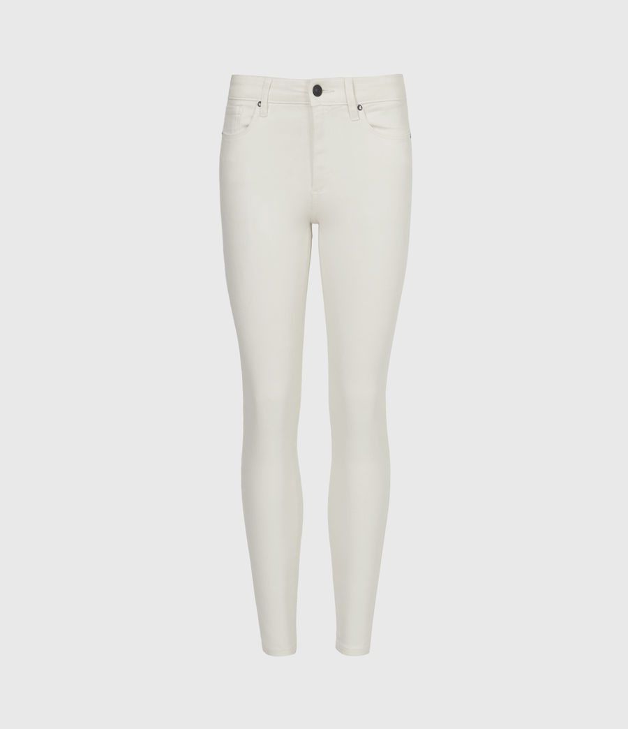 Womens Miller Mid-Rise Coated Skinny Jeans, White (white) - Image 2