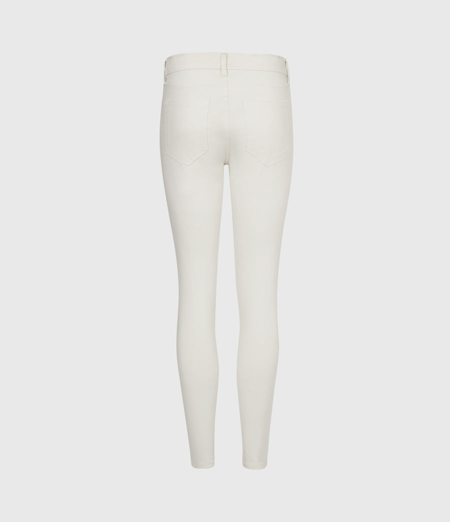 Womens Miller Mid-Rise Coated Skinny Jeans, White (white) - Image 3