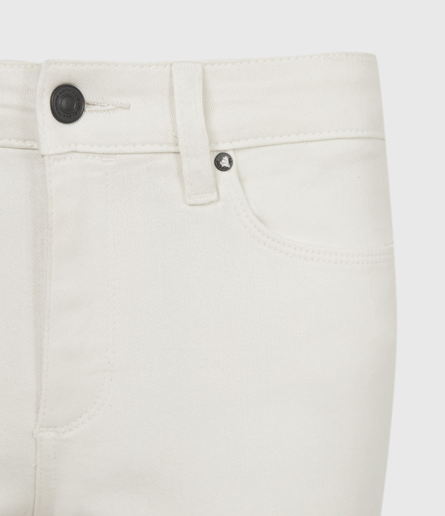 Womens Miller Mid-Rise Coated Skinny Jeans, White (white) - Image 5