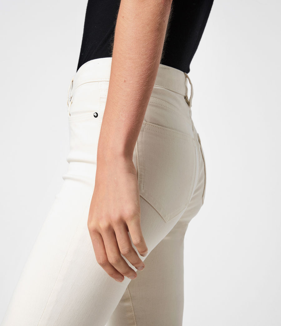 Womens Miller Mid-Rise Coated Skinny Jeans, White (white) - Image 6