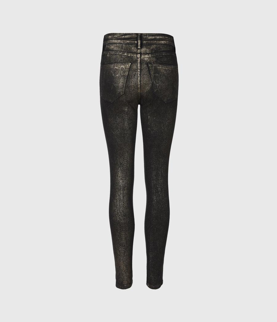 Damen Miller Mittelhoch-Tailliert Skinny Snake Jeans, Schwarz (black_gold) - Image 3
